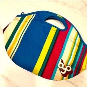 🆑5/$25 BYO Blue Colorful Striped Blue Lunch Bag